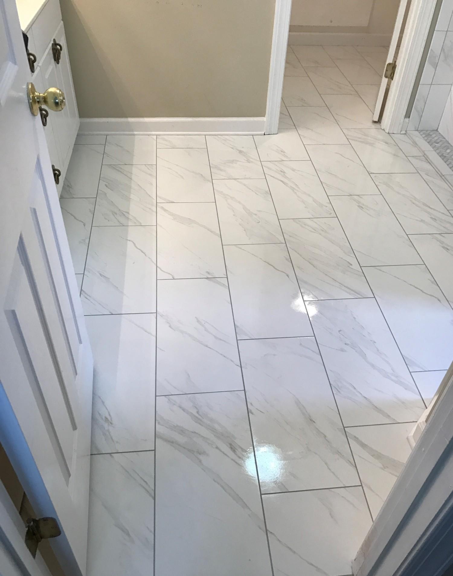 Stunning Carrara Look Bathroom Destin Elite Tile