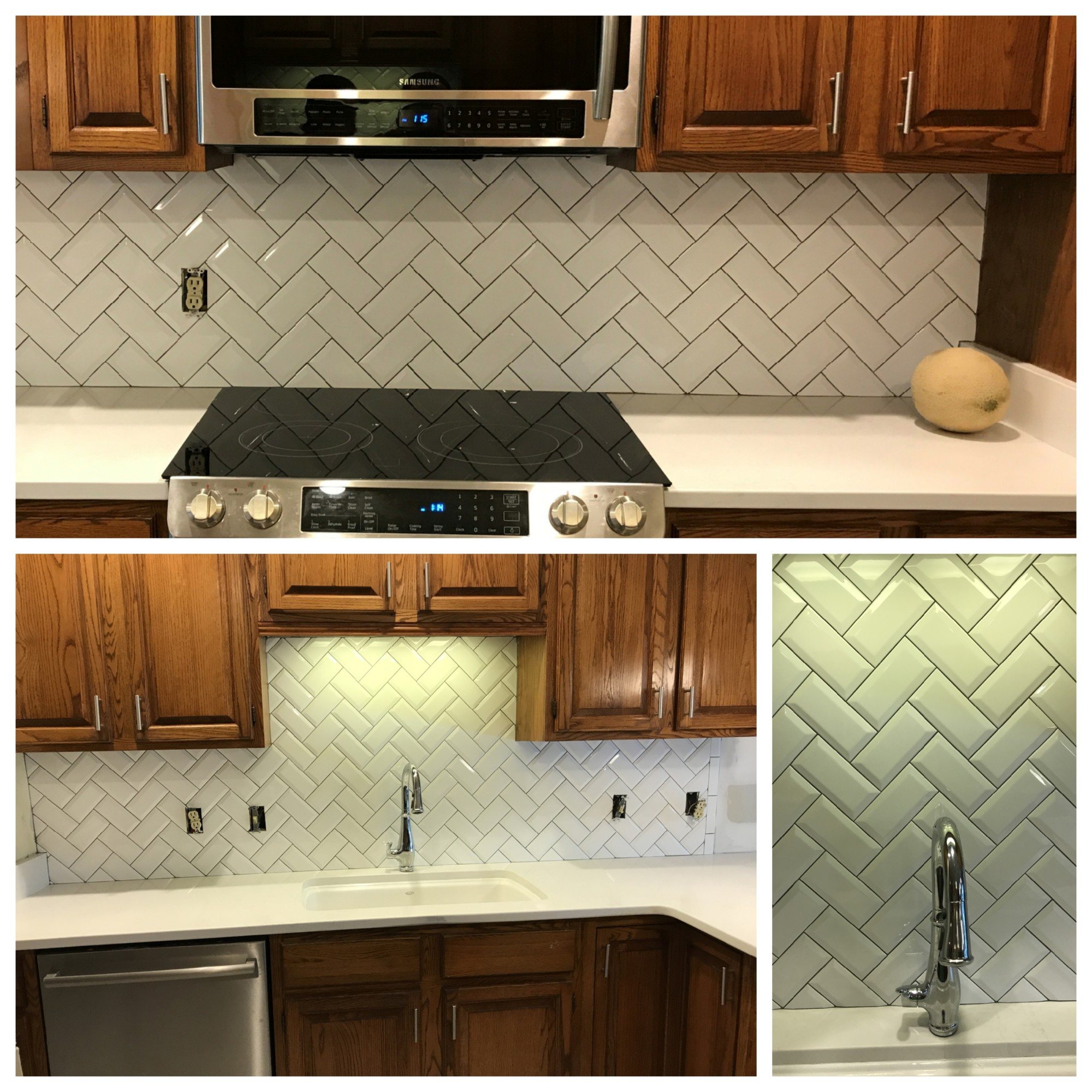 - Subway Tile Backsplash In A Herringbone Pattern – Destin Elite Tile